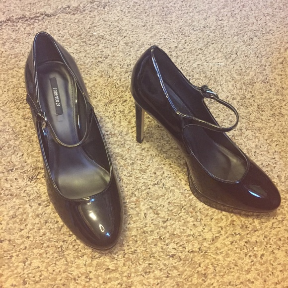 edc36653466e83 25% off Forever 21 Shoes Forever21 Womens Black Patent Mary Janes ...